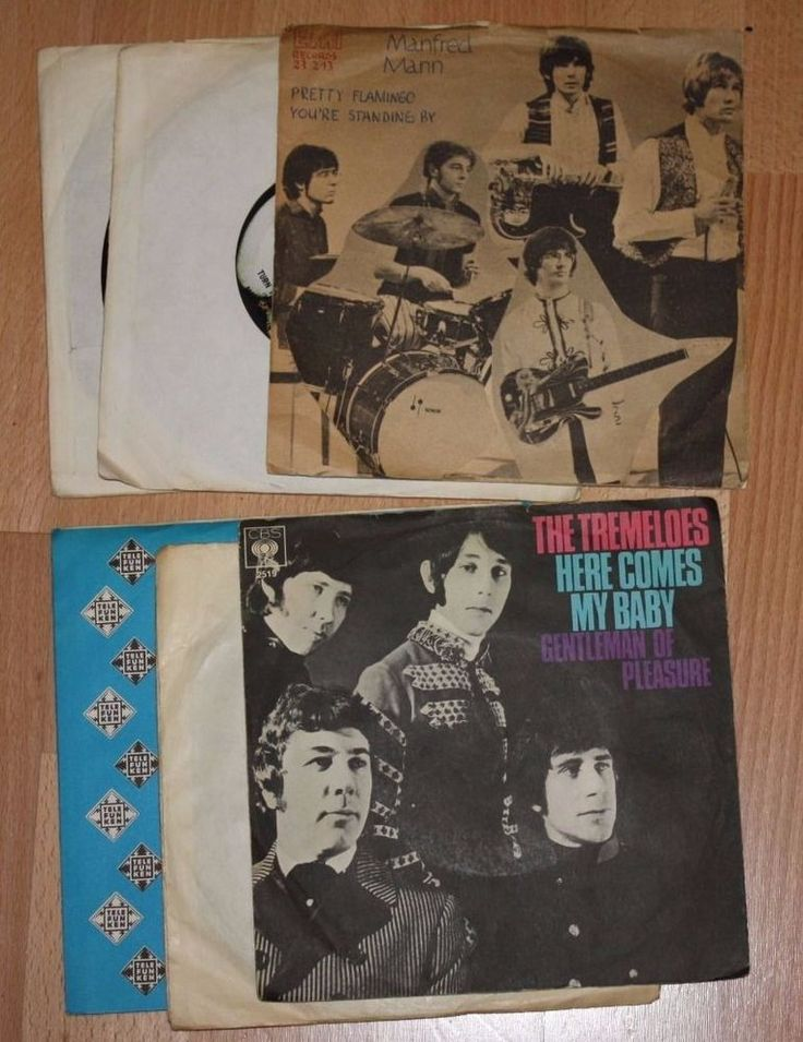 "6x 7"" Vinyl Collection TREMELOES - SAM THE SHAM AND THE PHARAOES - MANFRED MANN"