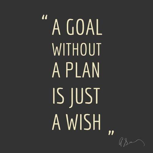 """""""Um objetivo sem um plano é apenas um desejo."""""""