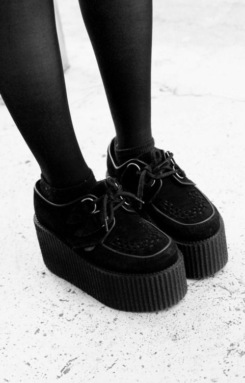 classic black creepers
