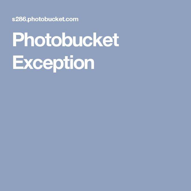 Photobucket Exception