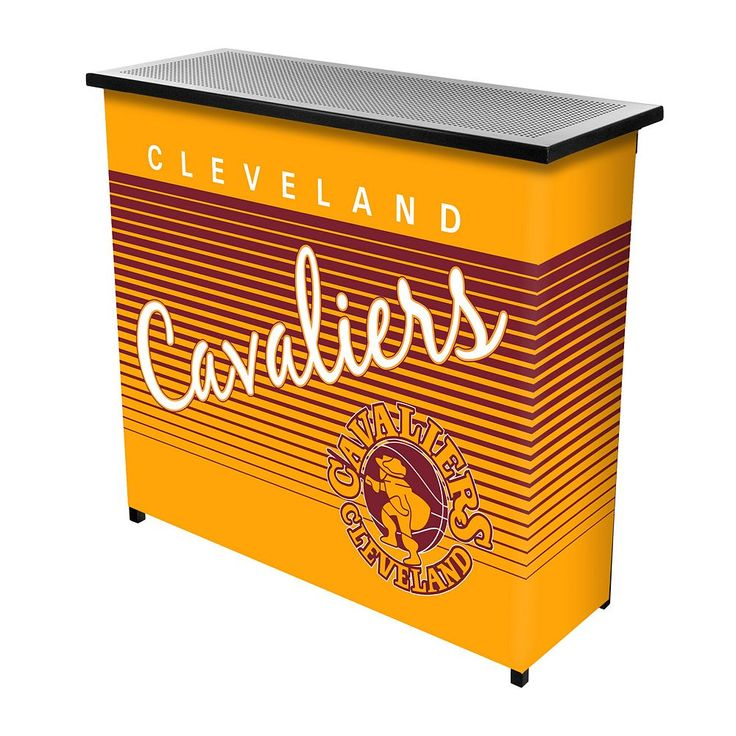 Cleveland Cavaliers Hardwood Classics 2-Shelf Portable Bar with Case, Multicolor