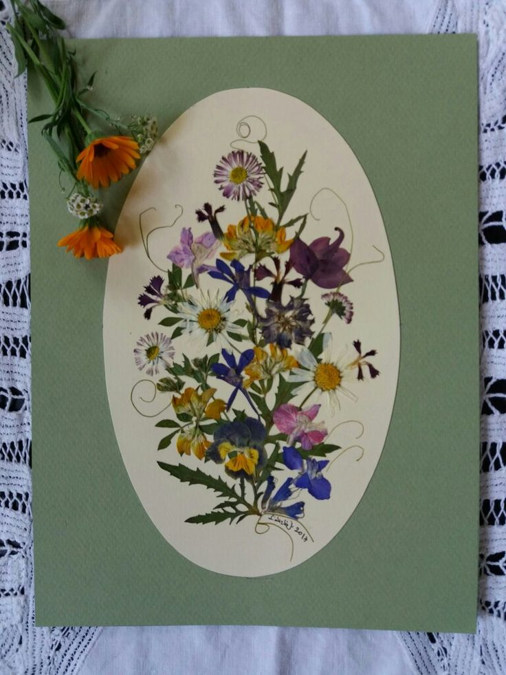 Wild Flower bouquet for my daughter- pressed flower picture