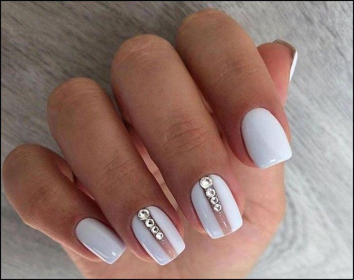 113 Elegant Nail Designs For Short Nails Page 37 White Gel Nails Elegant Nail Designs Elegant Nails