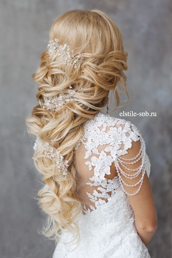 long up wedding hairstyle with headpieces / http://www.deerpearlflowers.com/new-wedding-hairstyles-to-try/