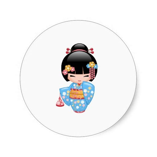 1000 images about kokeshi doll printables on pinterest for Stickers kokeshi