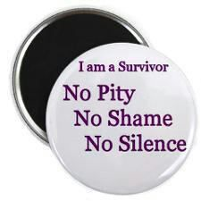 SURVIVOR OF DOMESTIC VIOLENCE ~ Wear your badge proudly ~ There may be someone out there looking for a sign of inspiration! ♥