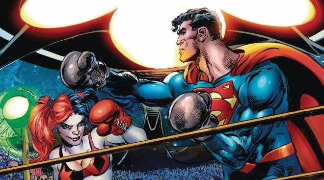 DC Comics Harley's Little Black Book ecco l'omaggio  Superman vs. Muhammad Ali