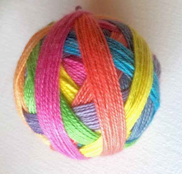 Self-striping Hand-dyed Sock Yarn Wool Luxury Sock 4 ply Fingering Faded Rainbow Lollipop by HeatherMaid on Etsy