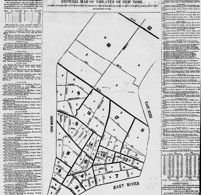 1840. Official (election) Map of the City of New York.
