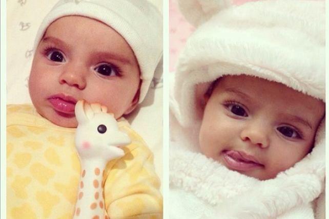 ¡Qué ternura!  La bebé de Alessandra Rosaldo y Eugenio Derbez luce hermosa a sus tres meses de edad.