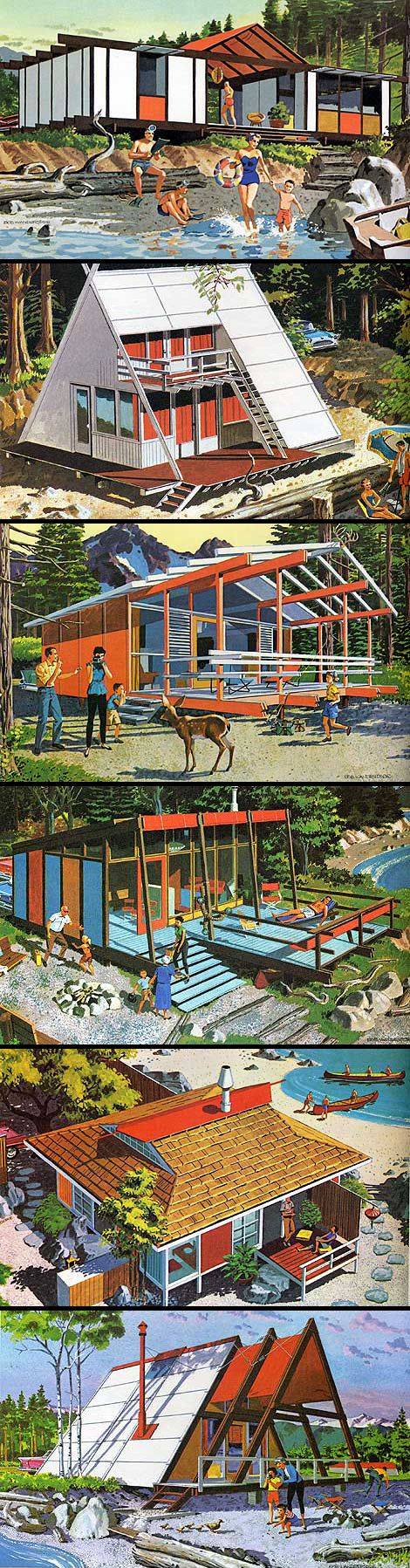 Mid Century Modern Vacation Home Plans