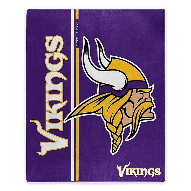 NFL Minnesota Vikings Royal Plush Raschel Throw in 2020