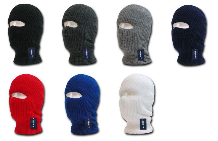 Tactical Design 1 Hole Face Ski Mask-Black OD Navy Red Gray White Etc- Decky 971 #Decky #TacticalFaceMaskSkiCapHat