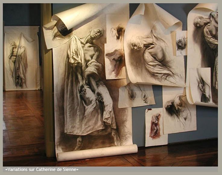 Variations sur Catherine de Sienne by Ernest Pignon-Ernest