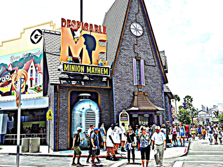 Entrance to Minion Mayhem at Universal Studios Florida. Those little minions are just too cute. There are a variety of plush dolls and etc. of them for sale at the park. If you are like me, you will walk out with one.