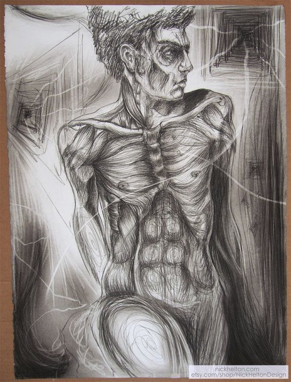 VIsionairy transparent see through man black and white charcoal on paper drawing by Nick Helton Design  https://www.etsy.com/listing/218120123/visionairy-transparent-see-through-man?ref=related-1