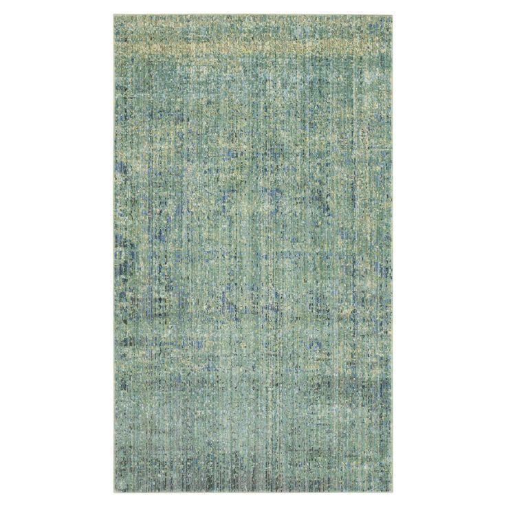 Teppich Lulu Vintage - Kunstfaser - Grün / Blau - 121 x 182 cm, Safavieh