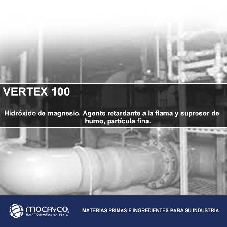 VERTEX 100.  Hidróxido de magnesio. Agente retardante a la flama y supresor de humo partícula fina.