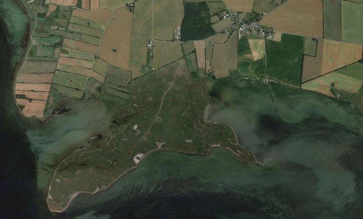 'Google Maps' map of 'Monnet'. A salt marsh on the southern tip of Tåsinge island, Denmark.