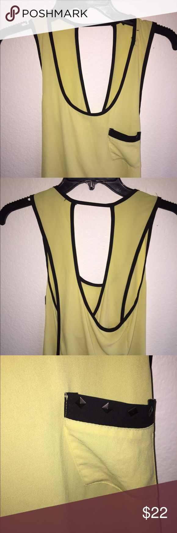 Tank top Black and yellow tank top blouse Tops Blouses