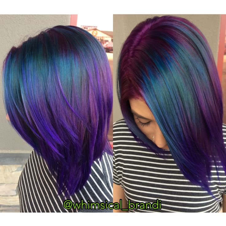 Peacock hair!!! Teals and purples are so beautiful!