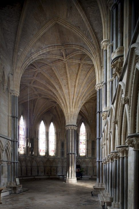 Chapter House, Lincoln Cathedral, UK. We launched the first Artisan Christmas CD - The Season of Holly and Ivy - here in 1990. An amazing place to sing in.