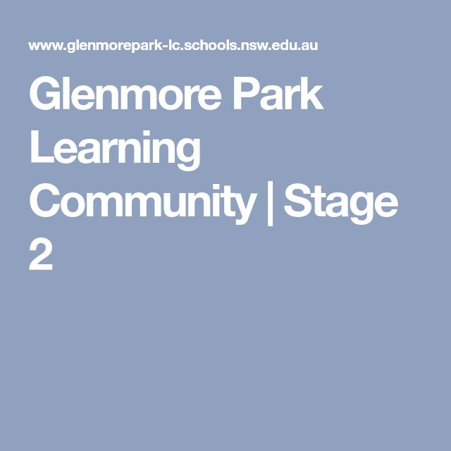 Glenmore Park Learning Community   Stage 2