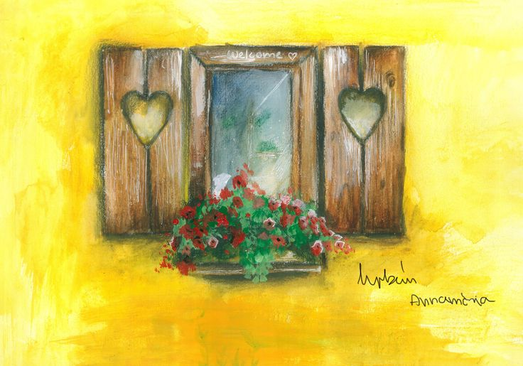 """The picture's title is """"June's window""""."""