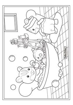 Kids N Fun Coloringpages Calico Critters
