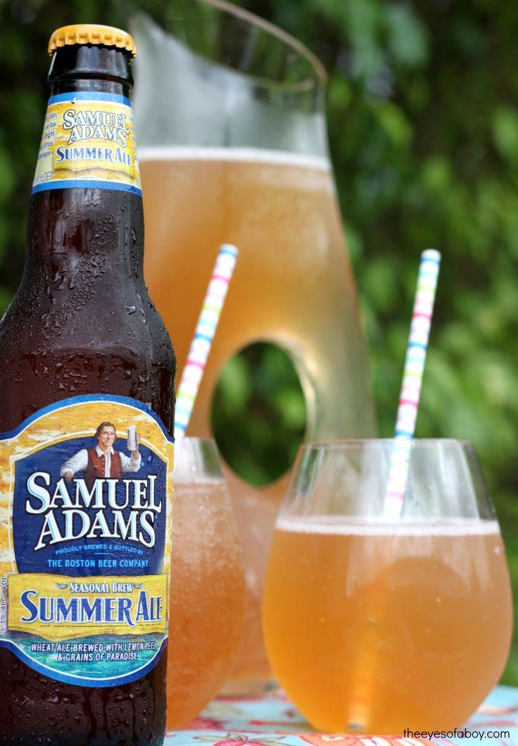 Summer Beer recipe drink pink lemonade shandy