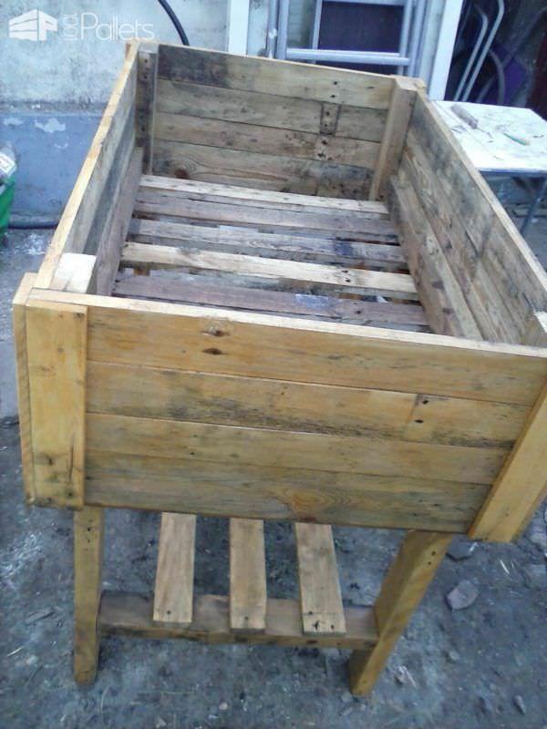 Table Potagère En Palette / Pallet Vegetable Table Pallet Planters & Compost Bins