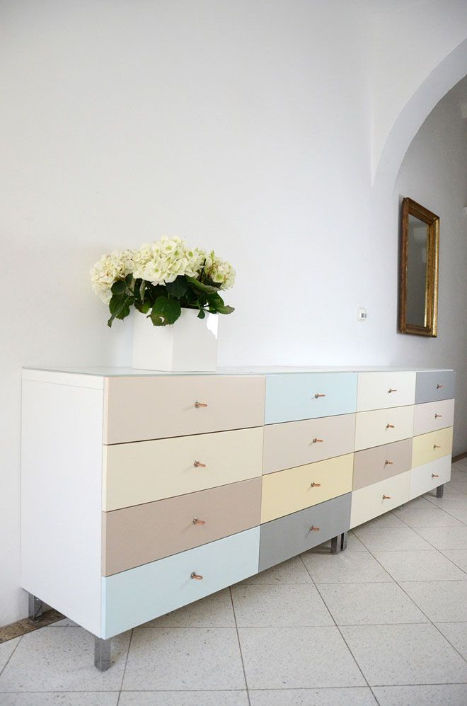Ikea Besta hack - Creating a colourful sideboard by Theresa Neubauer