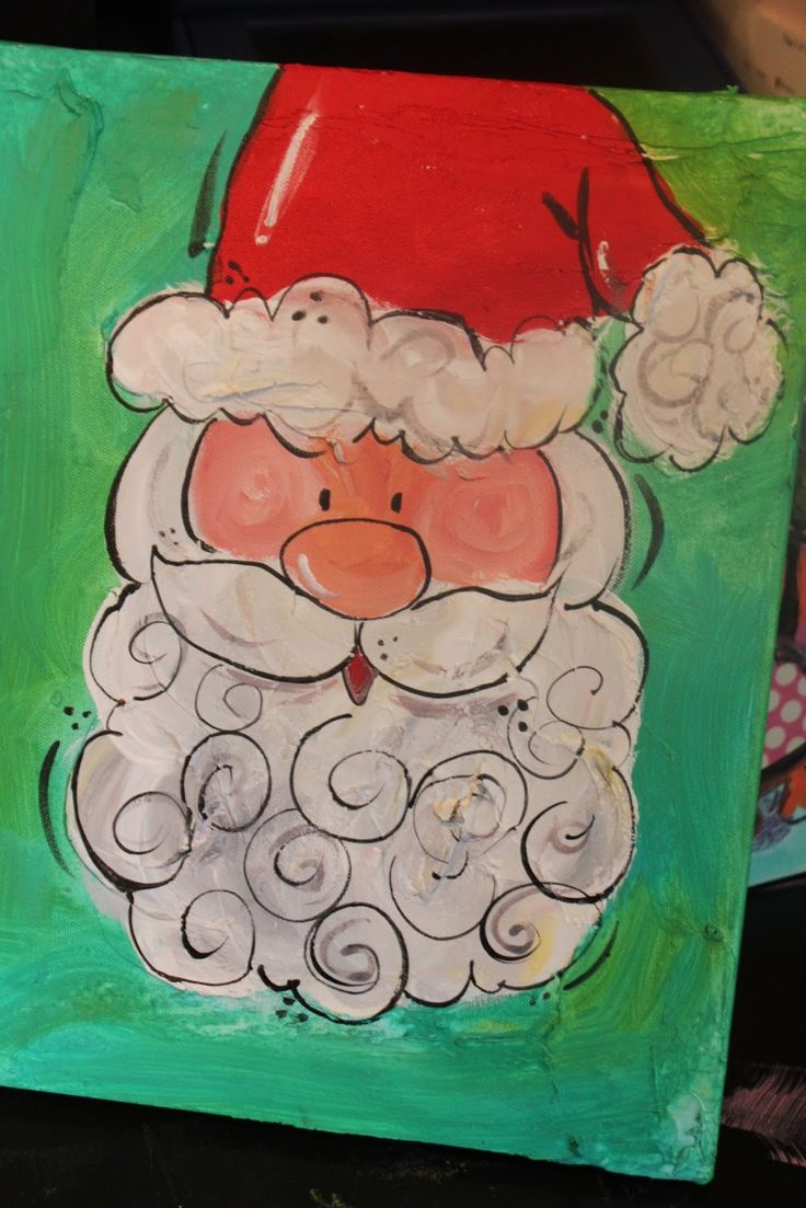 Santa design to do as a watercolor maybe? (+ other examples on the site!)