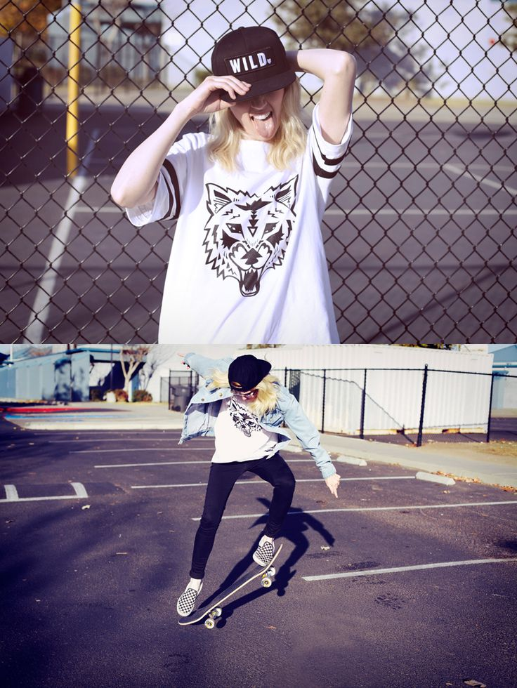 Girls who shred. Krystal Simpson for Wildfang.