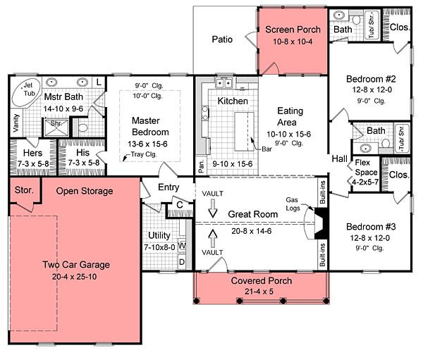25 best ideas about open plan house on pinterest open for 1800 sq ft house plans with walkout basement