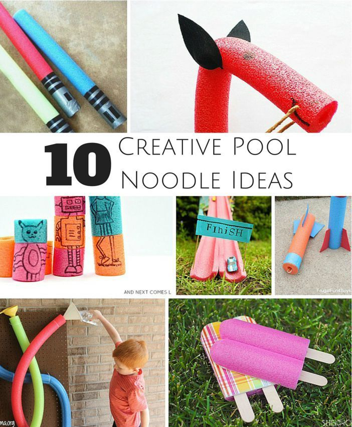 Zeitungsständer Holz Anleitung ~ 10 Creative Ways to Play with Pool Noodles Awesome pool noodle crafts