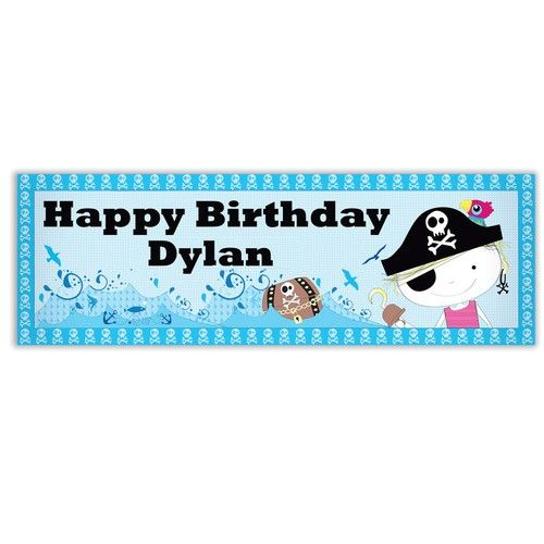 Personalised Pirate Banner