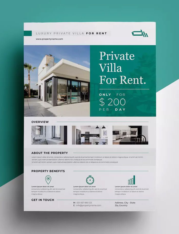 Real Estate Flyer Template Indesign Indd A4 Paper Size 8 X 11 Inch Design Des Real Estate Marketing Design Real Estate Flyers Real Estate Brochures