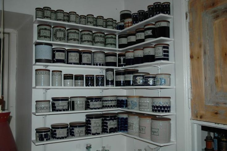 Monster collection of Marianne Westman-designed Rorstrand jars. <3!