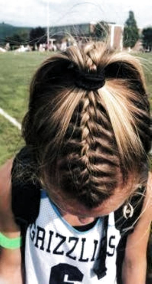 Braids For Sports In 2020 Braided Ponytail Hairstyles Sporty Hairstyles Hair Styles