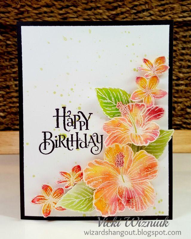 68 best hawaiian birthday greetings images on pinterest birthdays wizards hangout hawaiian hibiscus birthday card m4hsunfo