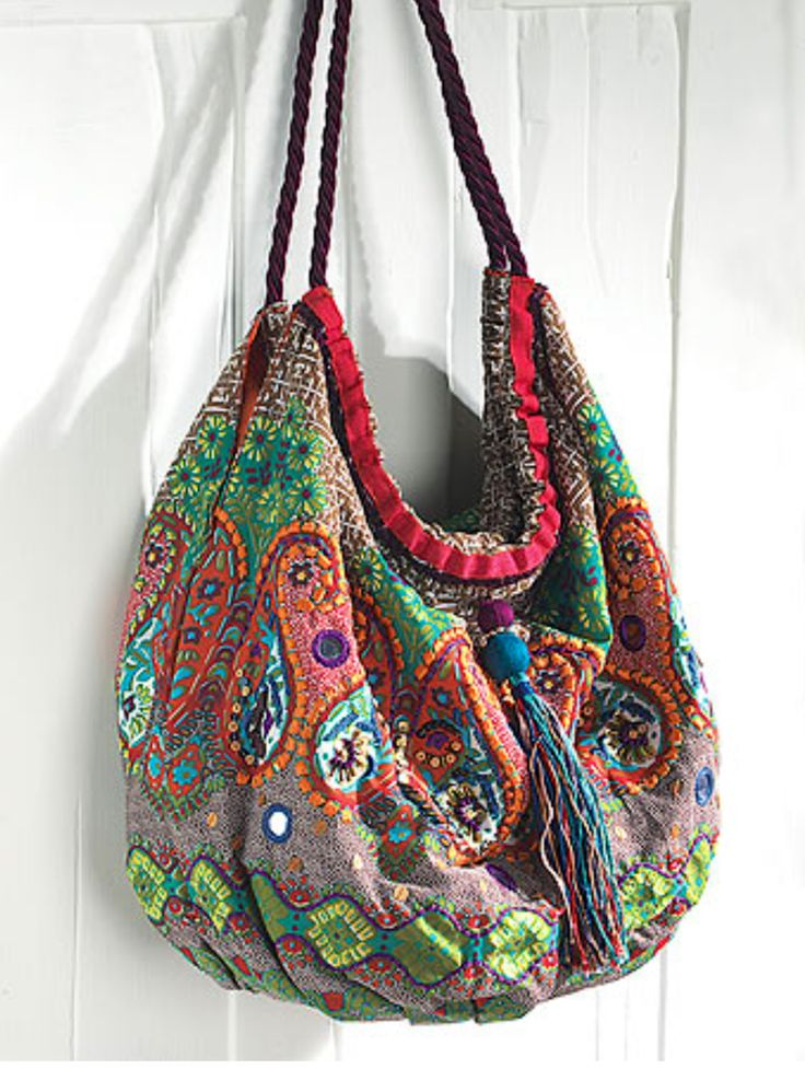 Bohemian bag colorful hippie