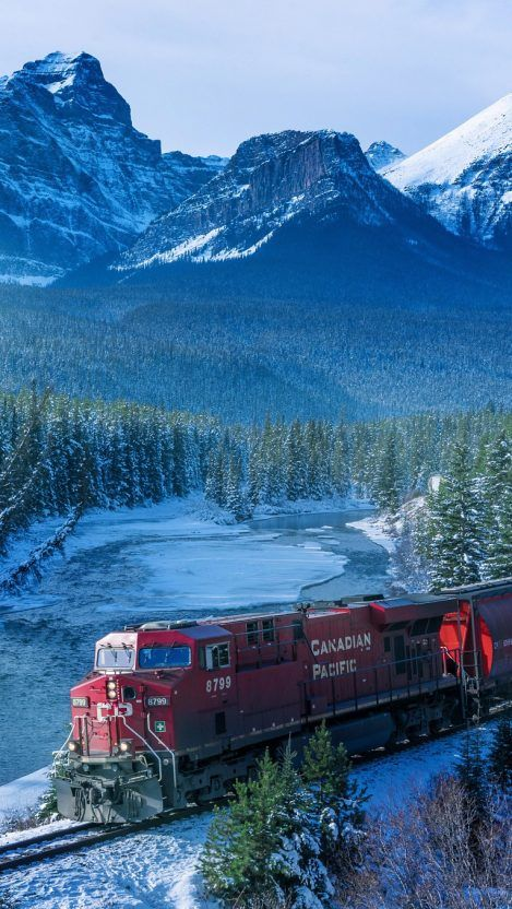 Canadian Pacific Train Winters Iphone Wallpaper Iphone Wallpapers Train Wallpaper Canada