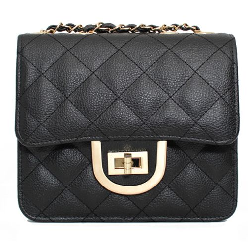 Leather Mini Crossbody Bag Square Mini Shoulder Bag 3 Colors at doozybag.com