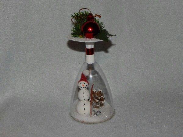 Schneemann im Glas