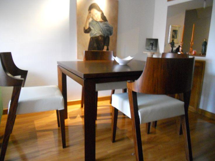 Comedor moderno en madera flormorado athosmuebles.com