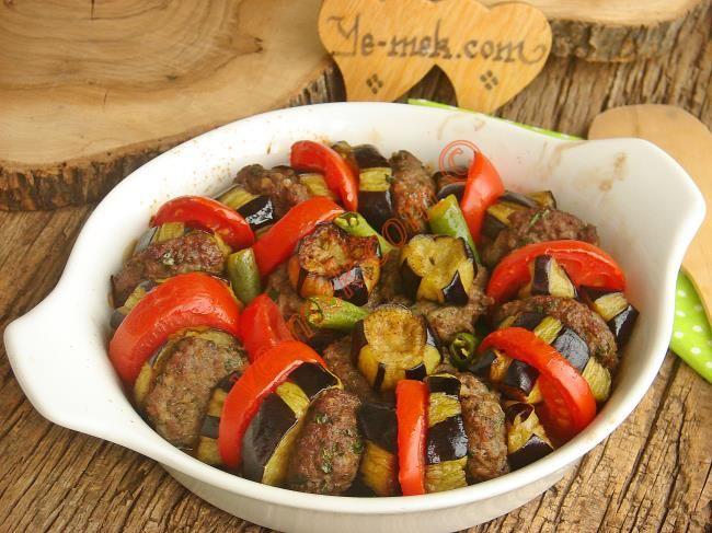 Fırında Patlıcan Kebabı Resimli Tarifi - Yemek Tarifleri