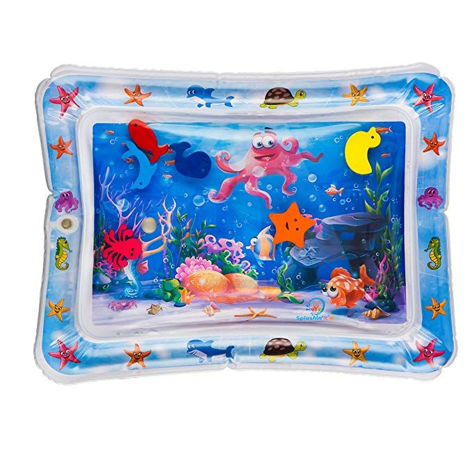 Amazon Com Splashin Kids Inflatable Tummy Time Premium Water Mat Infants And Toddlers Is The Perfect Fun Time Play Ac Water Mat Baby Tummy Time Tummy Time Mat