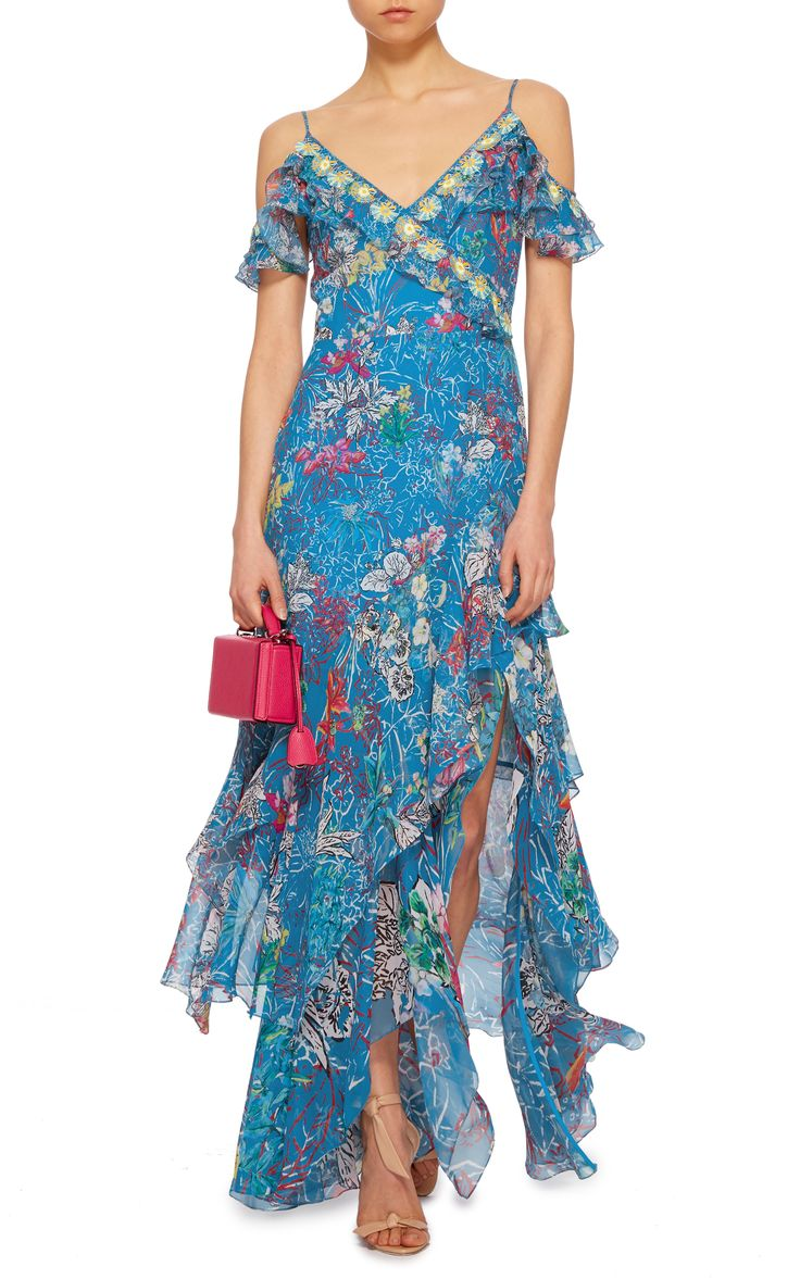 Floral-Print Georgette Maxi Dress by PETER PILOTTO Now Available on Moda Operandi