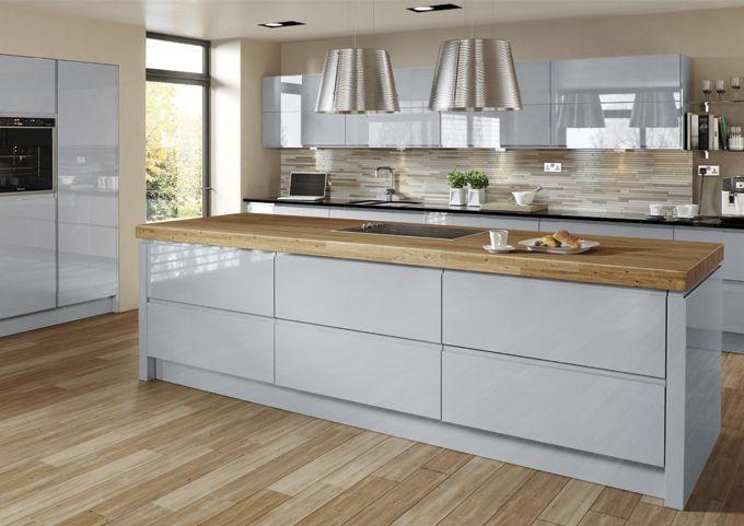 Best Welford Grey Kitchen Mdf Painted High Gloss Interior 400 x 300
